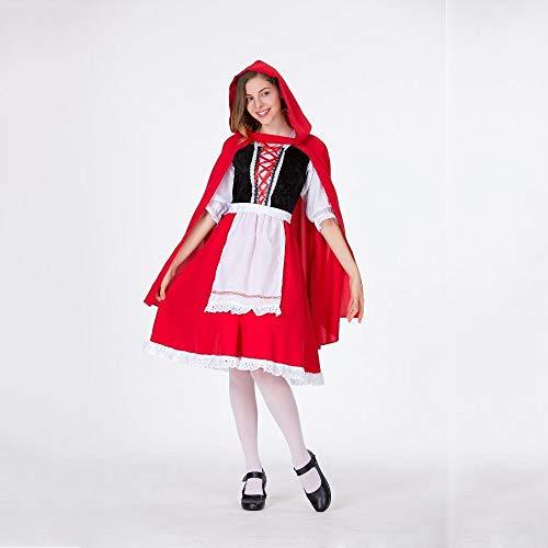 Yunfeng Hexenkostüm Damen Hexenkostüm Damen Halloween Kostüm weibliche Erwachsene sexy Little Red Riding Hood Spielen Kostüm Hexe Kostüm Ball einheitliche