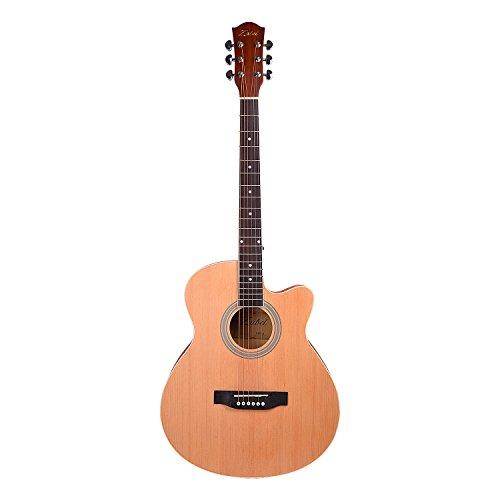 10. Zabel 40 Inches Matt Finish Natural Acoustic Guitar