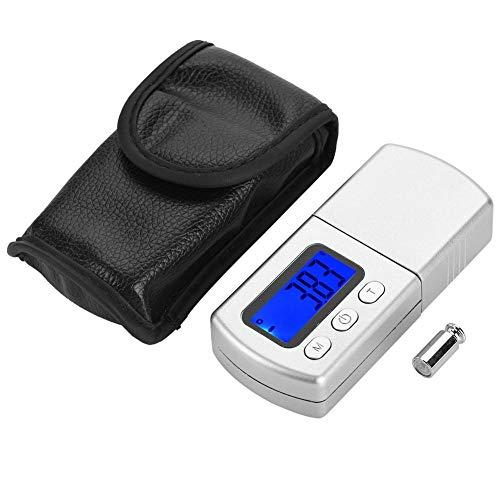 Taschenschmuck Force Weight Scale, Micro tragbare elektronische Schmuckwaage Pocket Digital Scales Gauge Tester mit Batterie Silber Pocket-batterie-tester