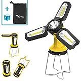 Tesecu Lanterna da Campeggio Torcia Lanterna LED 3 in 1, Lampada Ricaricabile USB Portatile Impermeabile, CREE LED da Campeggio, Pesca, Trekking, Emergenze Escursioni