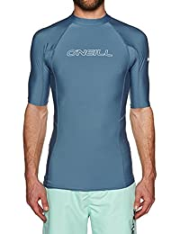ONEILL WETSUITS Basic Skins S/S Rash Guard Camiseta para Hombre, Unzutreffend, Evergreen, Basic Skins S/S Rash Guard, Hombre, Color Dusty Blue, tamaño Large