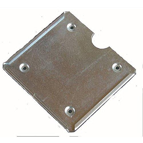 LEMAX® Einschubrahmen Wechselhalterung f.Gefahrguttafel m.Sicherung,V2A Stahl 300x300mm