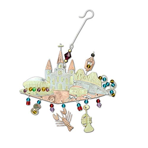 Home and Holiday Shops City of New Orleans Louisiana Skyline Metal Christmas Tree Ornament Fair Trade