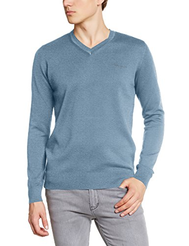 Teddy Smith Herren, Pullover, Pulser Bleu (stone Blue Chiné)