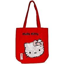 Hello Kitty - Bolso de tela para mujer Rojo rojo