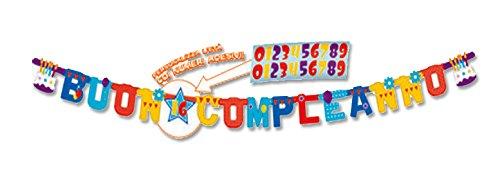 comprare on line GHIRLANDA PERSONALIZZABILE BUON COMPLEANNO XL C/ADESIVI 5IT29051