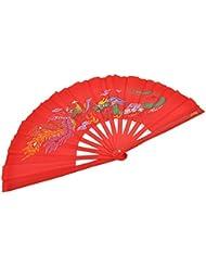 Abanico Tai Chi (Tai Ji Shan) Dragon - Rojo