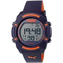 Puma Unisex Reloj Infantil con Mecanismo de Digital Bytes Pantalla Digital Coronado Controls y Azul Correa