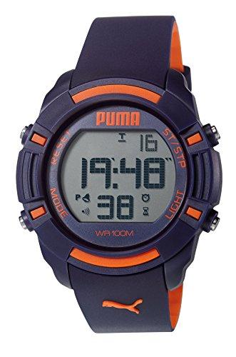 Puma Unisex Reloj Infantil con Mecanismo de Digital Bytes Pantalla Digital Coronado Controls y Azul Correa de PU PU911221002