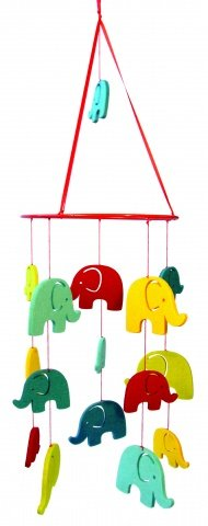 Mobile aus Filz für´s Kinderzimmer Modell Elefant