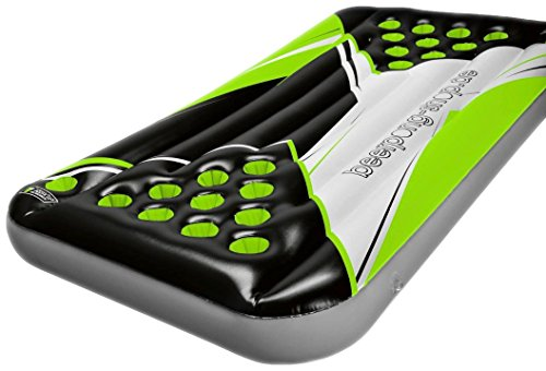 *Beer Pong Luftmatratze – Neon Design – inkl. Seilen & Halterungen für Rote Becher*