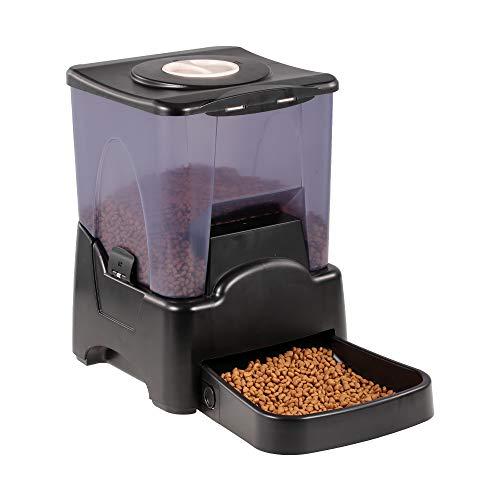 Jackcer 10L Futterautomat Automatischer Futterspender für Hunde & Katzen, mit Sprachaufzeichnung, Portionskontrolle, LCD-Anzeige, Timer programmierbar, Auto Timed Smart Feeder -