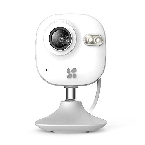 Ezviz c2mini ip telecamera di sicurezza, 720p hd, 2.4ghz wi-fi interni videocamera con audio bidirezionale, baby monitor del bambino & animale, visore notturno, bianco
