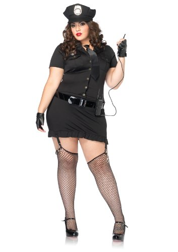 Dirty Cop Kostüm, Größe 46, schwarz (Leg Avenue Polizei Kostüm)