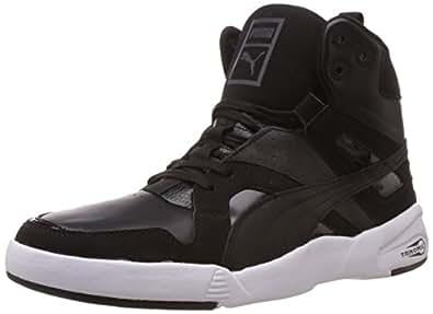 Puma Men's Future Trinomic Slipst. Mid Black Leather Sneakers - 13UK/India (48EU)