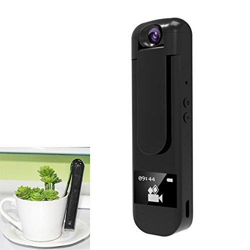 YMXLJJ Mini Recorder 1080P HD Kamera mit Drehbarem Objektiv Kostenpflichtigen Multifunktions MP3 Musik Player DVR Recorder,Black