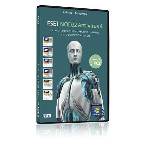 ESET NOD32 Antivirus Home Edition 3 PCs DVD-Box