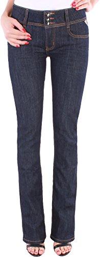Bootcut-denim-hosen (Damen Jeans Hose Schlaghose Bootcut Schlag Stretch meliert Damenjeans★A302 (38/M, M02))