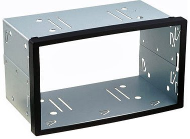 Universall Doppel DIN Einbauschacht - Metal (110cm Öffnungsmass- Höhe der Frontblende)