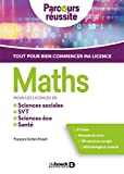Maths pour les licences de sciences éco, sciences sociales, SVT, PACES