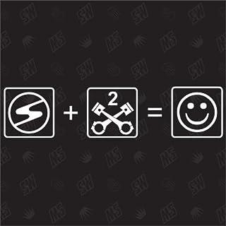 Trabant + 2 Zylinder = Smile - Trabbi Sticker