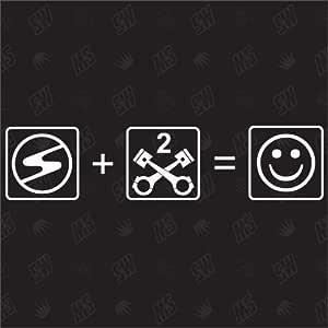 Trabant 2 Zylinder Smile Trabbi Sticker Auto