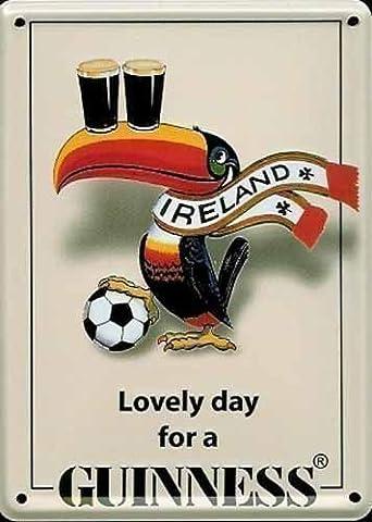 Plaque murale en métal pour bar/pub design Guinness Irish
