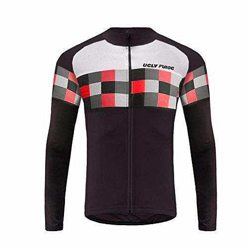 UGLYFROG #13 Radsport Trikots Lange Ärmel Sport & Freizeit Shirts Frühjahr-Herbst Style (Condor-anzug)