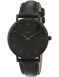 Cluse Unisex-Armbanduhr Analog Quarz Leder CL30008