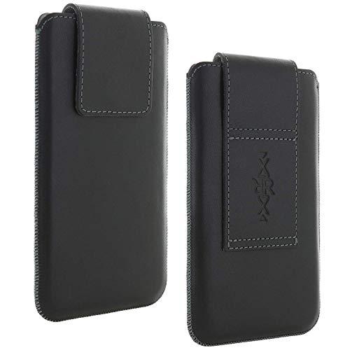 XiRRiX Echt Leder Gürtel universal Handytasche 4XL passend für Huawei Honor 10 Lite / P30 Pro/Samsung Galaxy A10 A50 M20 S9+ S10+ / Handy Tasche schwarz