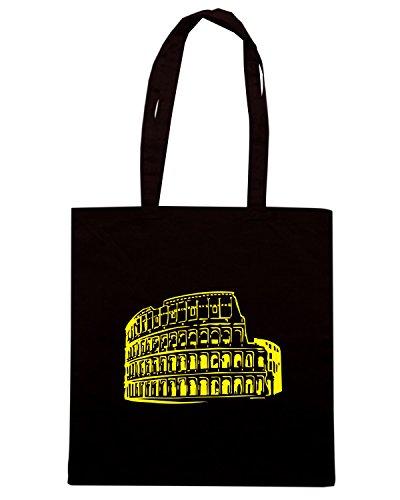 T-Shirtshock - Borsa Shopping T0685C spqr colosseo politica Nero