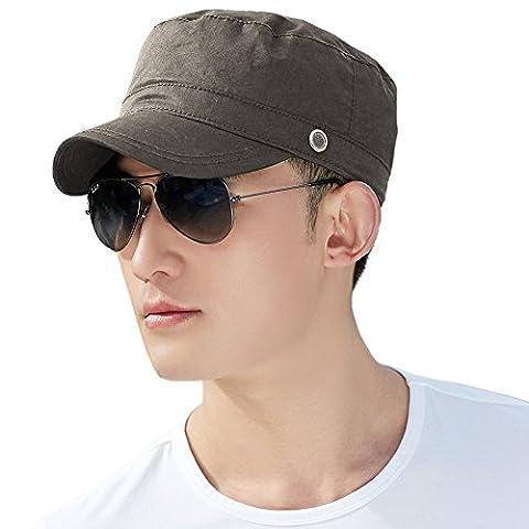 Siggi Mens Cotton Army Cap Sun Baseball Cadet Combat Military Hat Trucker for Men Army Green