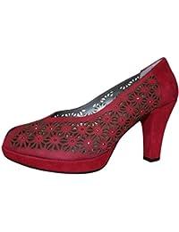 Calzados Asensio - Zapatos de Vestir de Piel para Mujer Rojo Morado