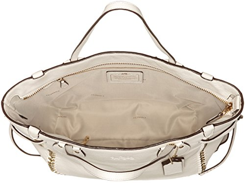 34398LICHK Coach Sacs de shopping Femme Cuir Blanc Blanc