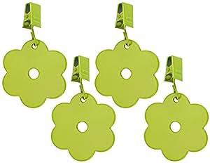 Tischdeckengewichte Tischdeckenhalter Blume 4er-Set Grün