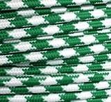 Textilkabel Stoffkabel grün Zick Zack , 2-adrig rund , 2x0,75