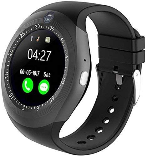 EDNA Y1S Digital Smart Watch with Features,Sim Card,Memory Card Slot,Touch Display,Inbuilt Camera Bluetooth Enabled All Phone Notifications, Medium