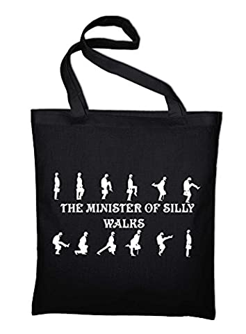 # 2 Monty Python Ministry of Silly Walks In Jute Bag, Bags, Plastic bag, cotton bag, BLACK (Black) -