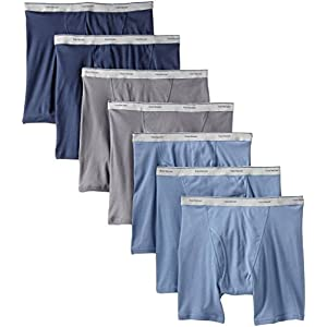 41mS17SoAlL. SS300  - Fruit of the Loom Men's 7Pack Assorted Boxer Briefs 100% Cotton Underwear 2XL
