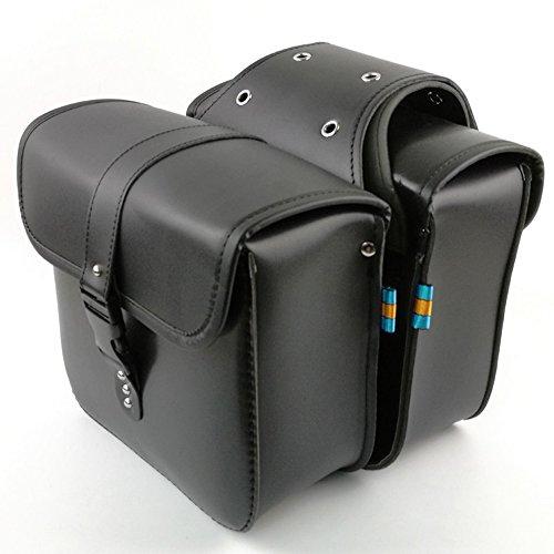 Paar Motorrad Satteltaschen Leder PU Wasserdichte abnehmba Satteltasche Werkzeugkasten