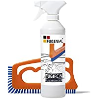 """""""Fuginator®"""" die patentierte Fugenbürste universal inkl. Fugenreiniger 250 ml - Fugenreinigungsset - Reinigt schonend alle mineralischen und dauerelastischen Fugen - Blau Universal für alle Haushaltbereiche"""