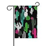 Dozili Flagge Magische Kaktusblüten Dekoration Garten Flagge wetterfest & doppelseitig Hofflagge, Polyester, bunt, 12.5