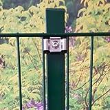10 m Doppelstabmattenzaun Spar Set - 120 cm hoch, grün (RAL 6005)