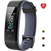 YAMAY Fitness Trackers,Colour Screen Activity Tracker Waterproof IP68 Fitness Watch with Heart Rate Monitor Smartwatch for Kids Women and Men Call SMS SNS Notification Push