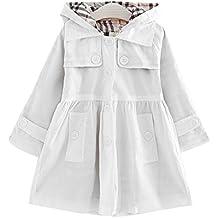 03162c2e2b96 Free Fisher - Cappottino Bambina Bimba con Fiocco Cintura Giacca Classico  Elegante Fashion