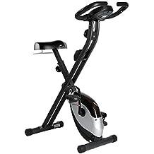 Ultrasport F-Bike Advanced Heimtrainer, Faltbares Fitnessbike mit Gelsattel, Flaschenhalter und Trinkflasche