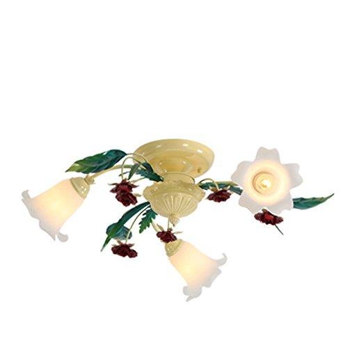 NAUY- Hirten-Deckenleuchten Kreative Blumen und Lichter Restaurant Wohnzimmer Schlafzimmer Lichter Mode warme und romantische Deckenbeleuchtung ( Farbe : 3-head )