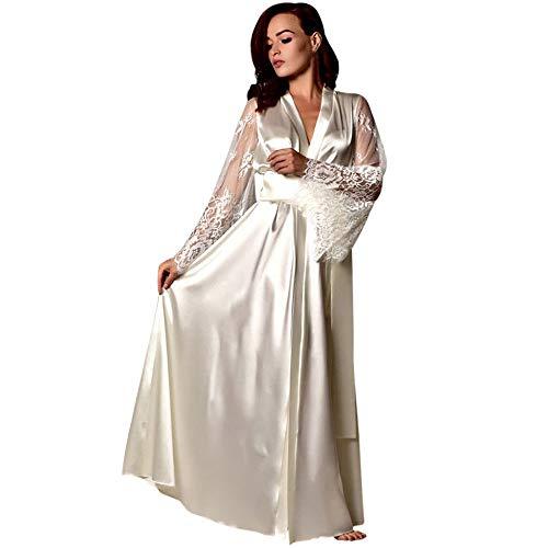 Elegante Damen Silk Dessous Set Mit Robe Solide Schlaf Hochzeit Robe Und Mini Nacht Kleid Volle Hülse Nachthemd Und Ein Langes Leben Haben. Unterwäsche & Schlafanzug