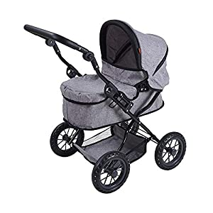 Knorrtoys 63487 First - Carrito para muñecos, Color Gris