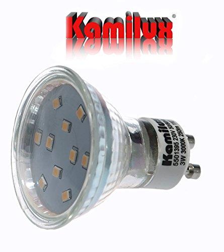 1 x SMD LED Bad Einbaustrahler Jerry 230V inkl. 3Watt Leuchtmittel in warmweiß oder kaltweiß Edelstahl-geb. Optik GU10 Sockel, ((kalt)weiß) - 5